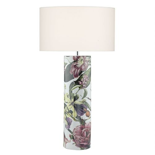 Elana Ceramic Table Lamp Tropical Print Base Only